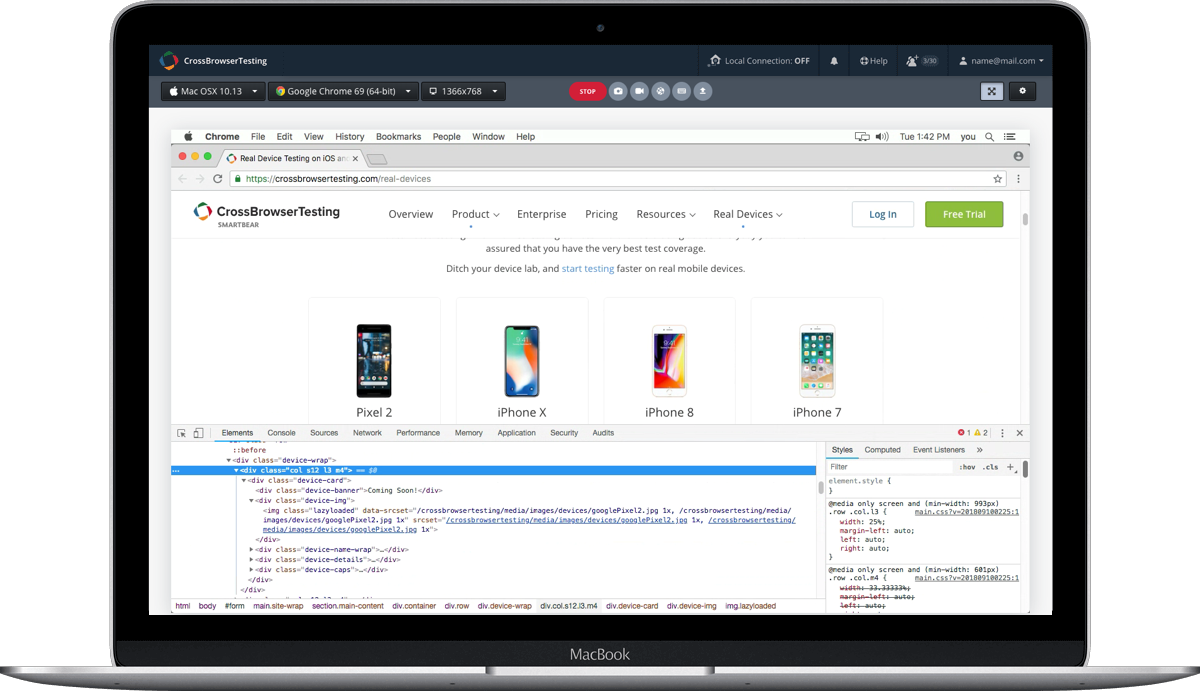 Test Your Website On Real Chrome Desktop & Mobile Browsers.