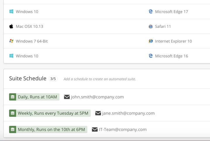 automated test scheduling with crossbrowsertesting