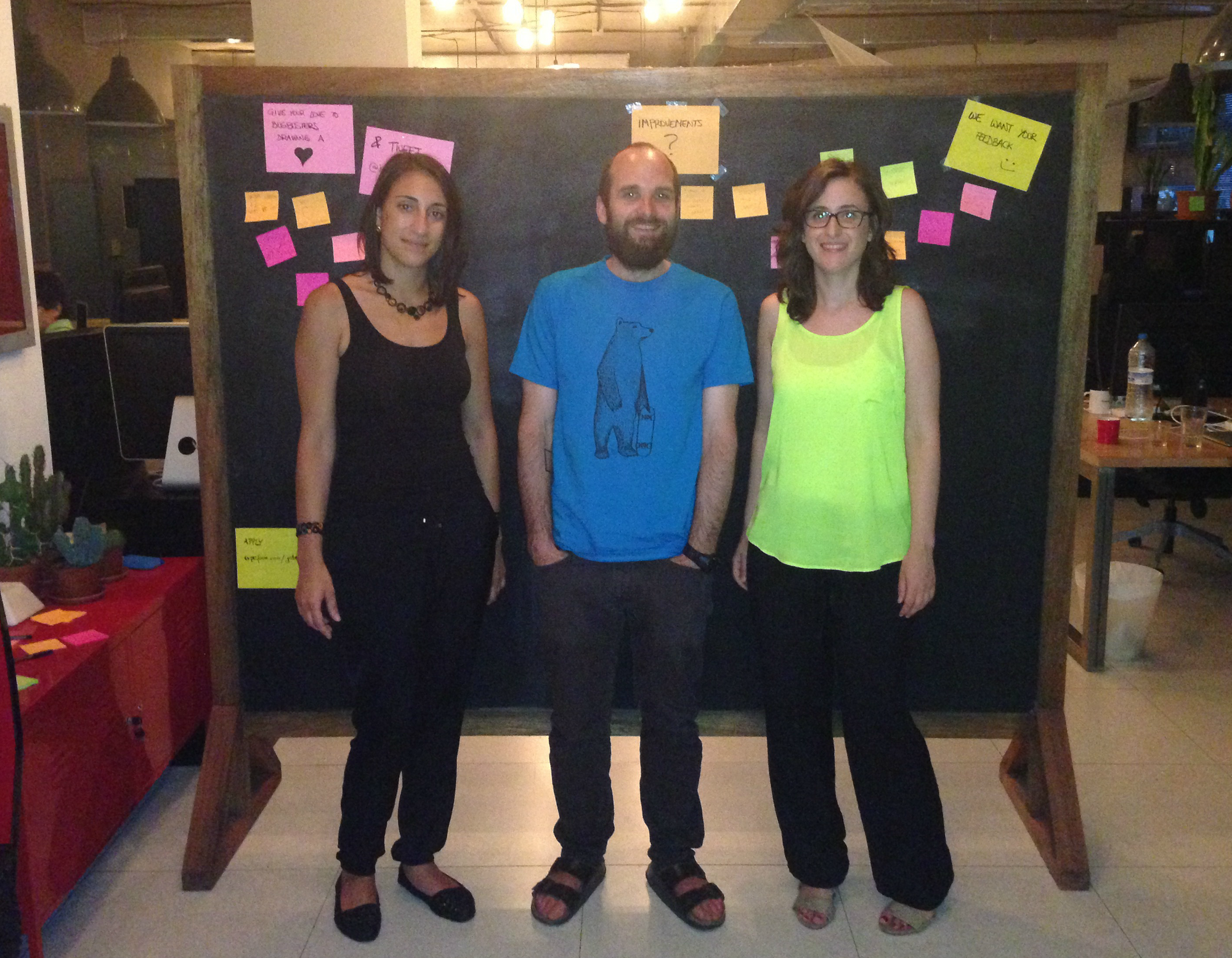 Matt with the Typeform team, Aida Manna (Left) and Gloria Hornero (Right)