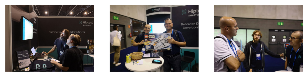 Hiptest demo, booth and Lego winner at Atlassian Summit Barcelona 2018