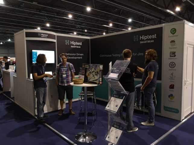Hiptest booth at Atlassian Summit Barcelona 2018