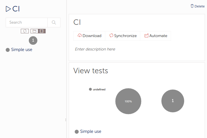 Ope, the CI test run