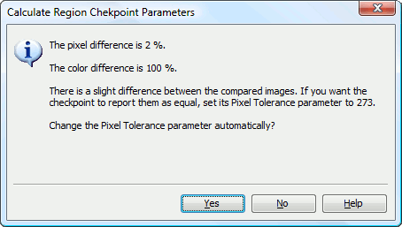 Adjusting region checkpoint parameters