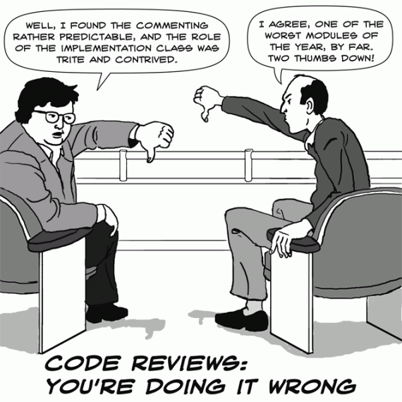 Code reviews shouldn't be treated like movie reviews