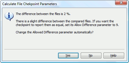 Adjusting file checkpoint parameters