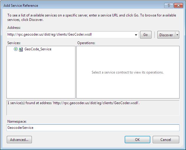 GeoCoder Web service