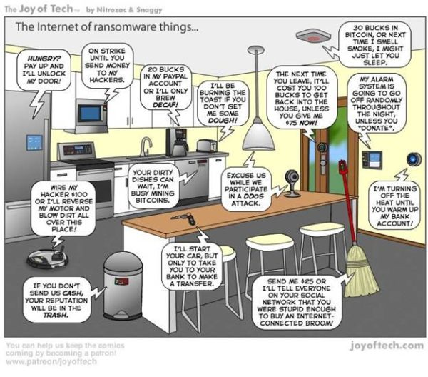 The Internet of ransomware things by JoyOfTech.com