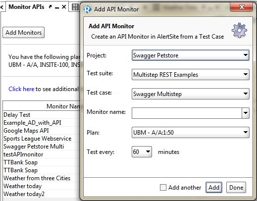 API Monitoring by AlertSite - New in SoapUI 5.2