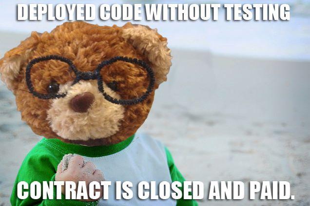 success kid smartbear deployed code