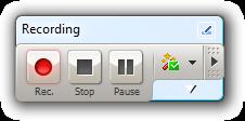 Test recording toolbar
