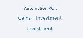 test automation roi formula