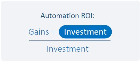 Test Automation ROI Formula Investments