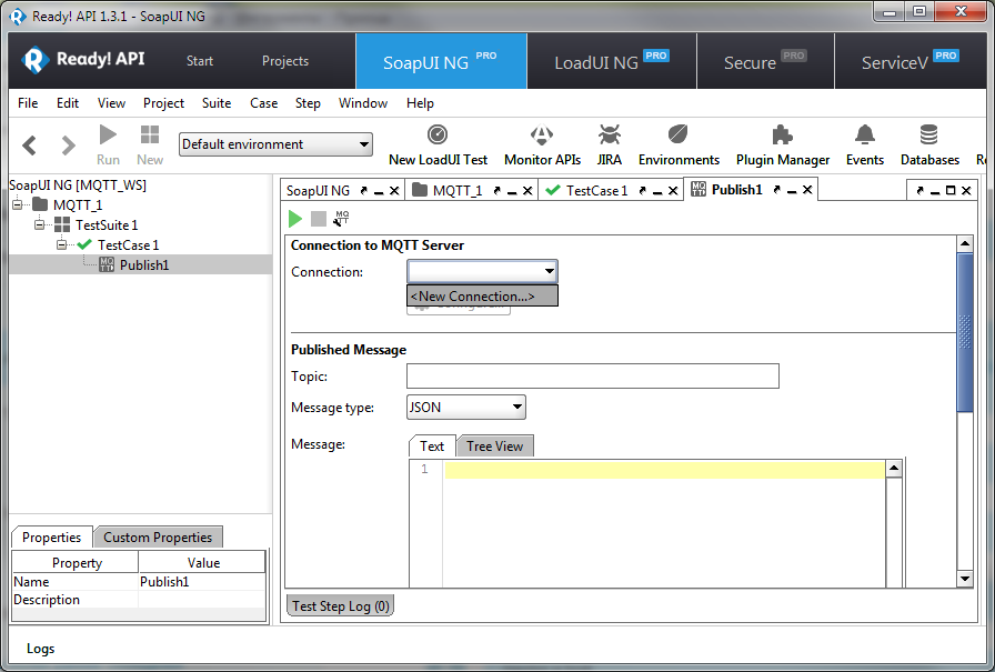 MQTT Test Steps | SmartBear Software