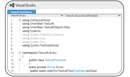 Access TestComplete features within an IDE