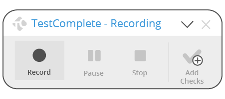 New Recording Toolbar