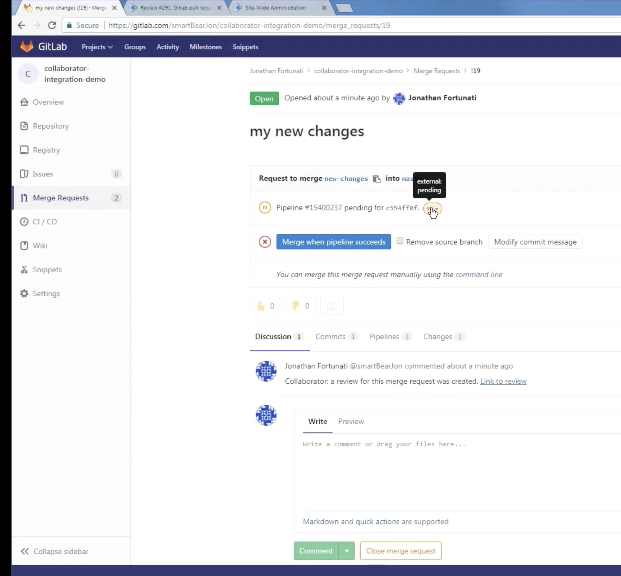 Collab GitLab Integration HD