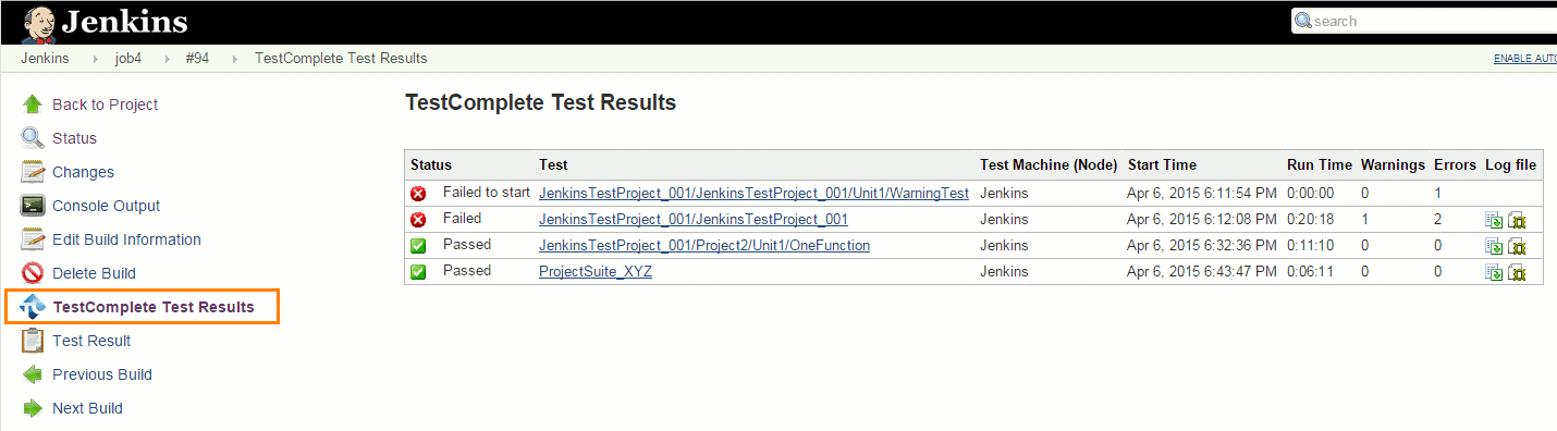 Integrating Automated Testing with Jenkins | TestComplete