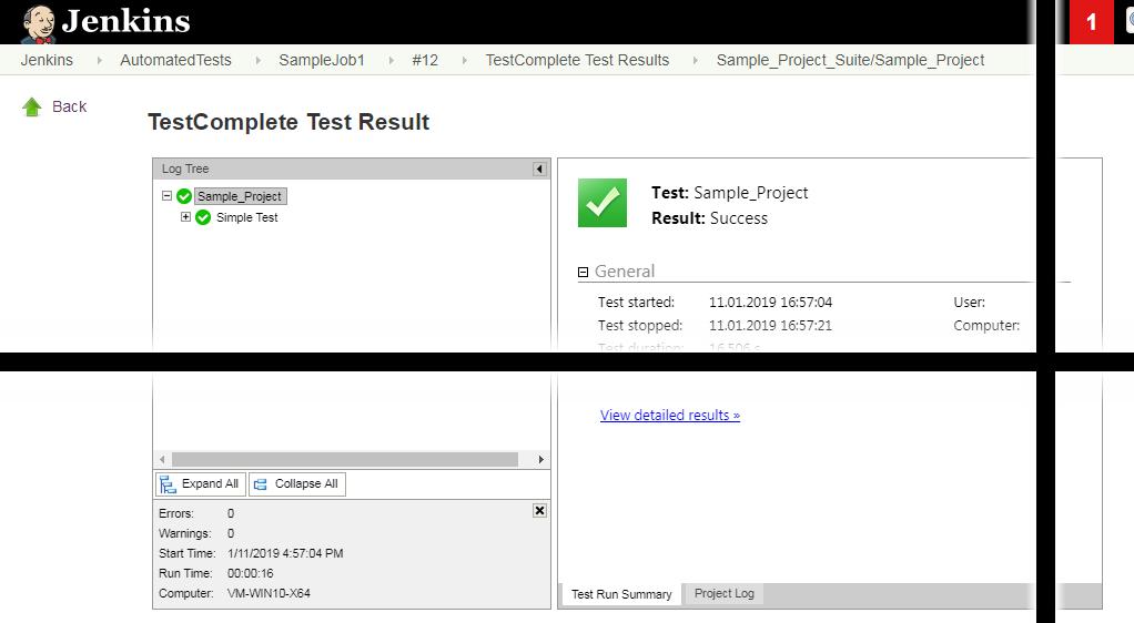 Jenkins testing