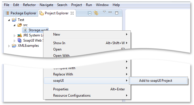 Add to soapUI Project