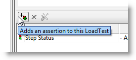 Add assertion button in Load Test Editor