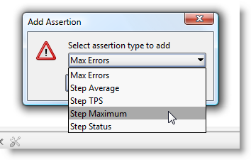 Add LoadTest assertion dialog