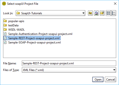 Importing the REST sample project