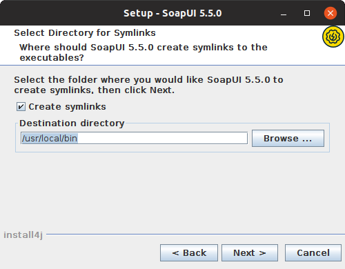 Installing SoapUI on Linux: Configure symlinks