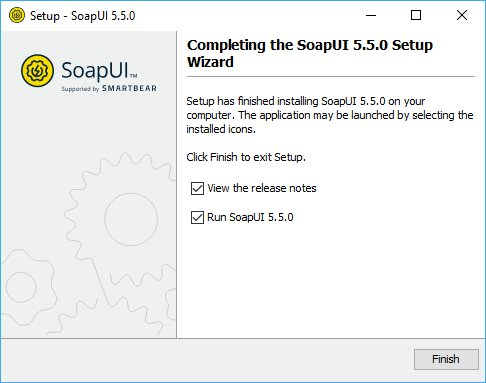 Installing SoapUI on Windows: Finish installation