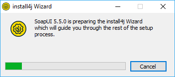 Installing SoapUI on Windows: Preparing installation wizard