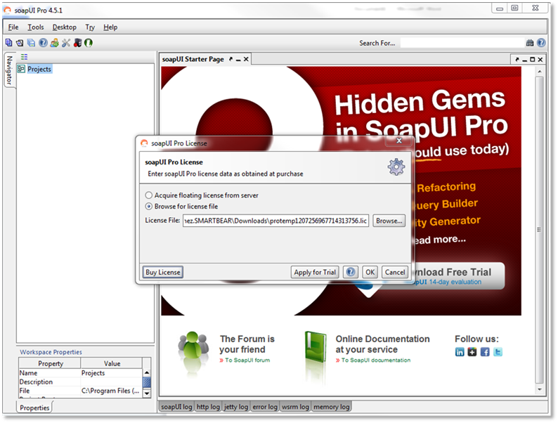 Renewing SoapUI Pro Trial License | Licenses