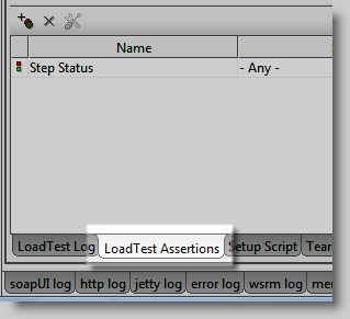 LoatTest Assertion Tab