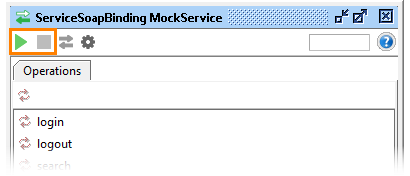 The mock service toolbar