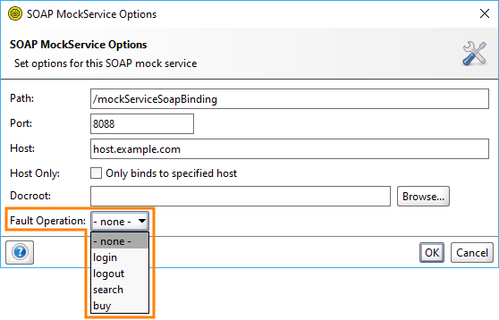 MockService fault operation setting