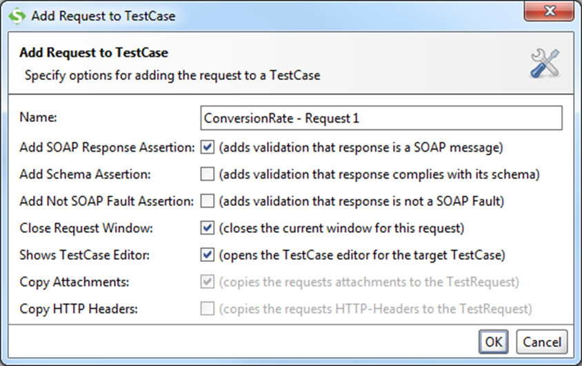 Add Request to TestCase