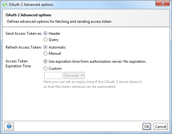 OAUth 2 Advanced Options