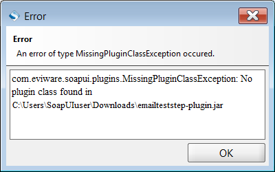 Missing Plugin Class