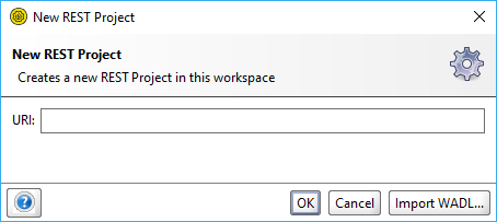 The New REST Project dialog