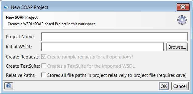 New WSDL Project Dialog