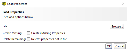 The Load Properties dialog