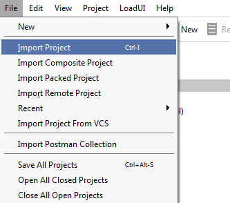 File menu > Import
