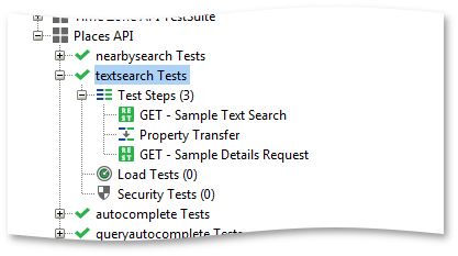 Textsearch test case