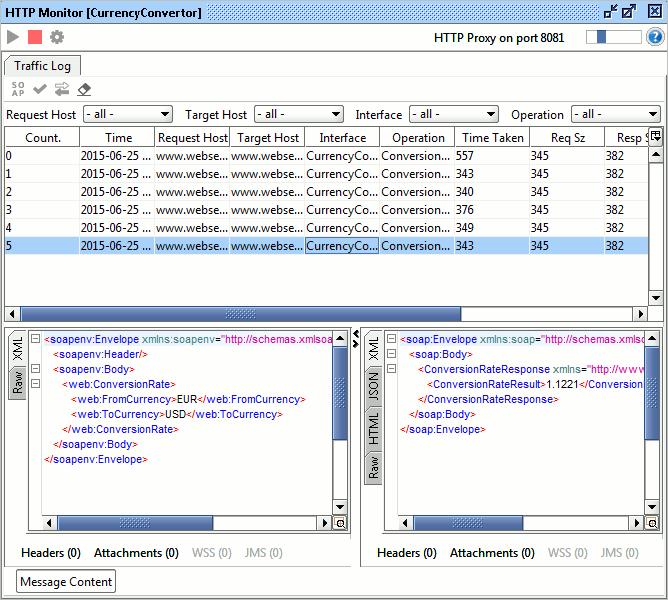Recording Traffic | HTTP Recording