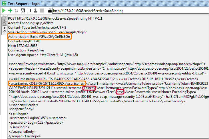 sample request header  How to specify user name and password in service request xml | Pega ...