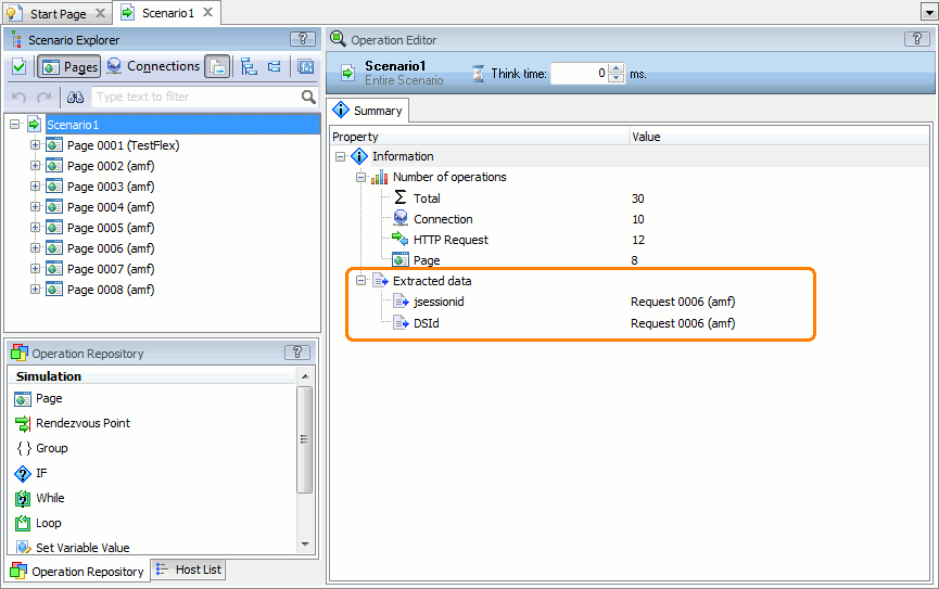 display tracking value requests