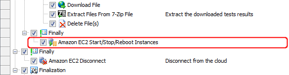 The Amazon EC2 Start/Stop/Reboot Instances operation