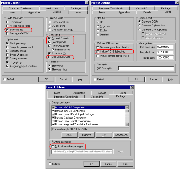Figure 3. Compiler Settings for Delphi 7