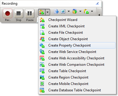 Creating Property Checkpoint