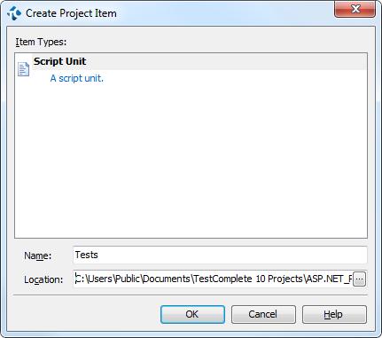 Creating a script unit