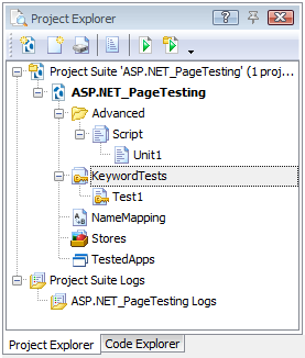A new project in the Project Explorer