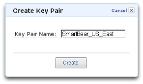 Creating a new Amazon Web Services EC2 key pair